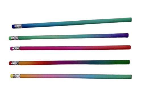 Crayon à papier arc en ciel