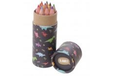 Etui 12 crayons de couleur dino