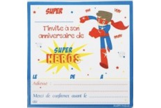 Invitation Super Héro