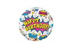 Ballon Super Heros Birthday filles