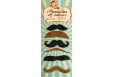 6 Moustaches adhésives