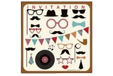 6 Invitations photobooth