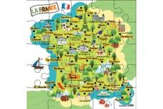Carte Puzzle France