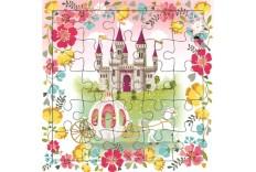 Carte Puzzle Le château de la princesse