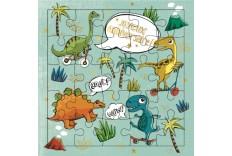 Carte Puzzle dinosaures