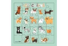 Carte Puzzle Les Chiens