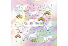Carte Puzzle 1000 bisous magiques de licorne