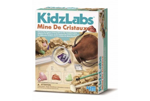 Kit mine de cristaux Kidz Labs 4M