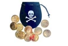Bourse Pirate et 12 pièces