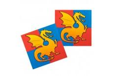 Serviettes dragon