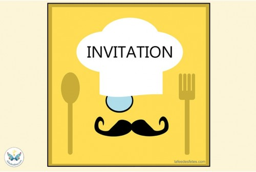 6 Invitations Top Chef