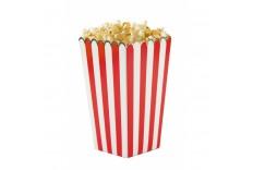 Boîte à popcorn Rouge blanc & Or x 8