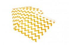Pochettes chevron orange x 12
