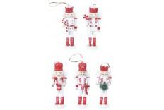 5 Figurines casse noisette Blanc & Rouge