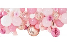 Guirlande de ballons Roses & rose gold