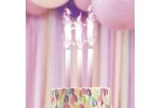 Fontaine à gâteau rose ombre x 3