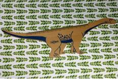 Règle dinosaure en bois