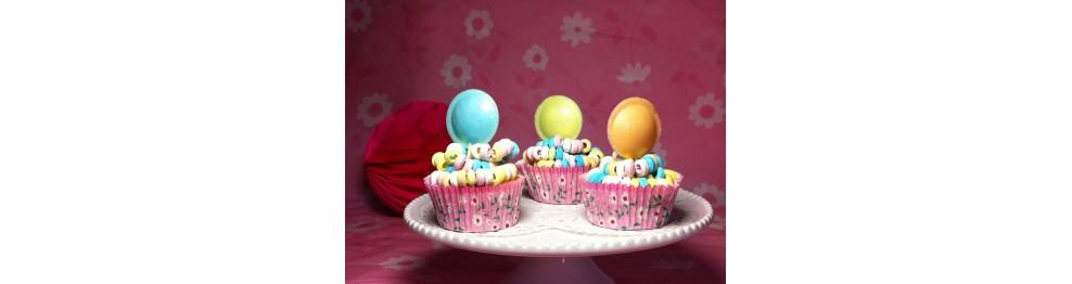 Caissettes et décoration cupcake